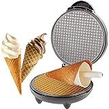 UPANV Electric Waffle Cone Maker, Ice Cream Cone Machine, Ice Cream Maker, Egg Rolls Nonstick Dessert Baking Pan Kitchen Cooking Gift