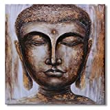 Sumeru Buddha Canvas Paintings Wall Art Pictures Abstract Religion Artworks for Home Living Bedroom Office Decoration,1 Piece, 24x24 Inch, Stretched and Framed