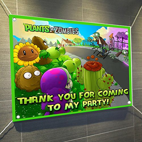 PLANTS VS ZOMBIES Banner Video Game Large Vinyl