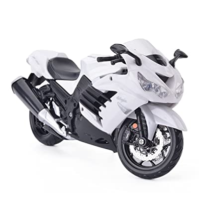 Maisto 2012 Kawasaki Ninja ZX-14R White Motorcycle 1/12: Toys & Games