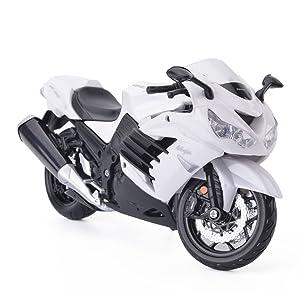 Maisto 2012 Kawasaki Ninja ZX-14R White Motorcycle 1/12