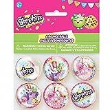 Unique 42889 Shopkins Bouncy Ball Party Favors, 6-Count
