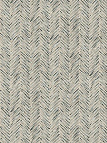Teal Taupe Tan Beige Aqua Geometric Abstract Herringbone Houndstooth Chevron Wovens Upholstery Fabric by The Yard (Houndstooth Upholstery Fabric)