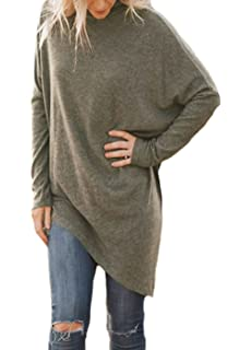 ab4fa89b2cbc Shawhuwa Womens Oversized Fleece Poncho High Neck Sweater Tops ...