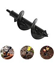Garden Auger Drill Bit Accessories, Soil Cultivator Hand Drill Digger Rod Auger for Planting Trees, Shrubs, Cultivating (3.14x 11.8in)