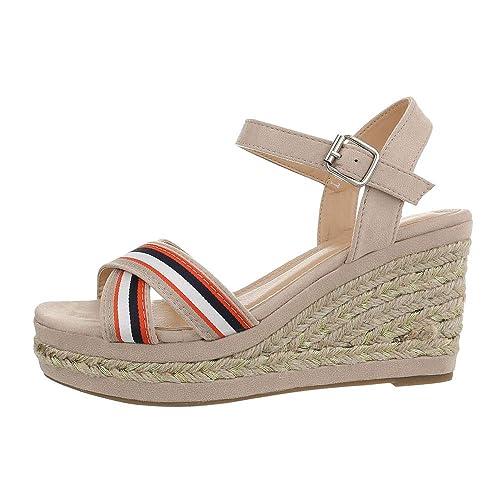 TAMARIS WEDGES KEILABSATZ Damen Schuhe Peeptoe Sandale