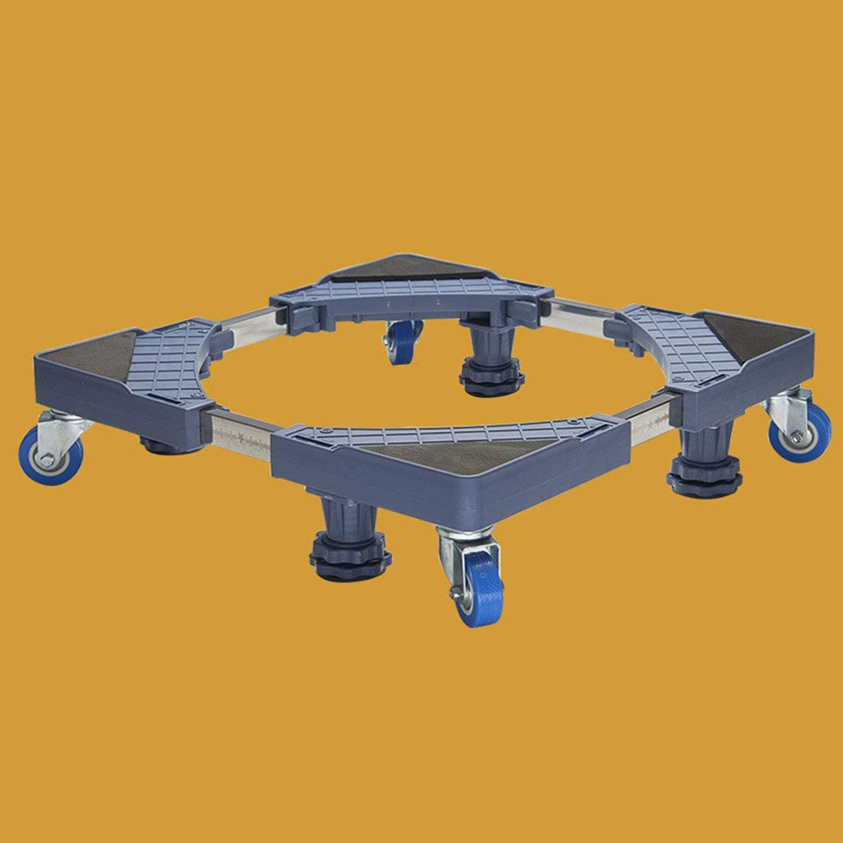 Mfnyp Fortalezca la Base del Pedestal de la Lavadora, con 4 Ruedas de Goma giratorias y Cierre de Seguridad para Secadora, Lavadora de Tambor y refrigerador,Fourfeetandfourwheels