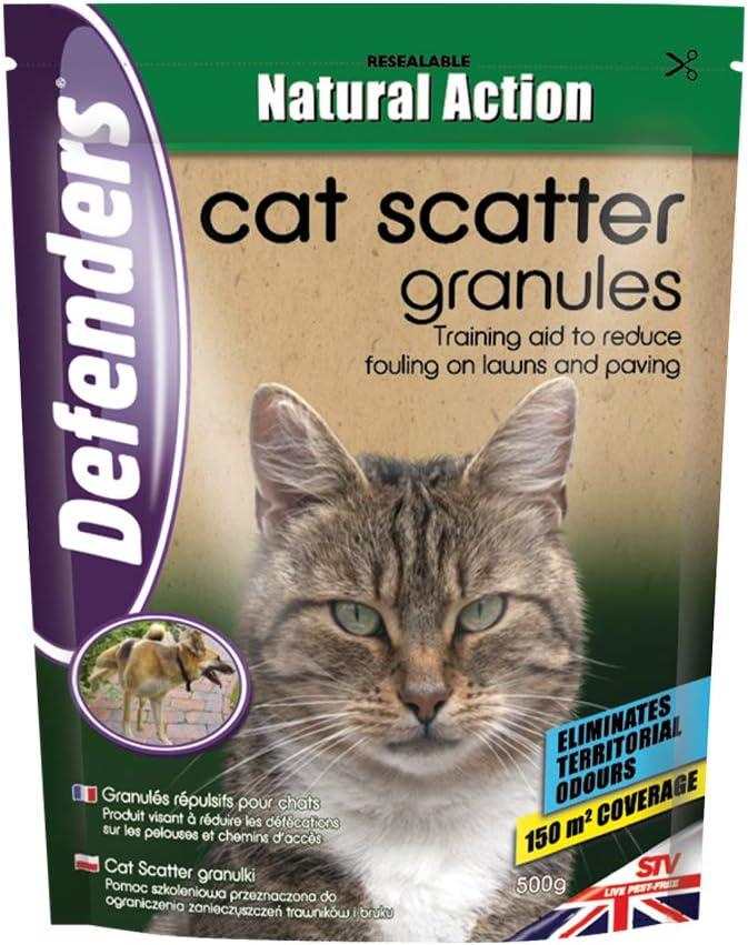 Defenders Gránulos de dispersión para perros y gatos 500g, Repelente para gatos de jardín: Amazon.es: Jardín