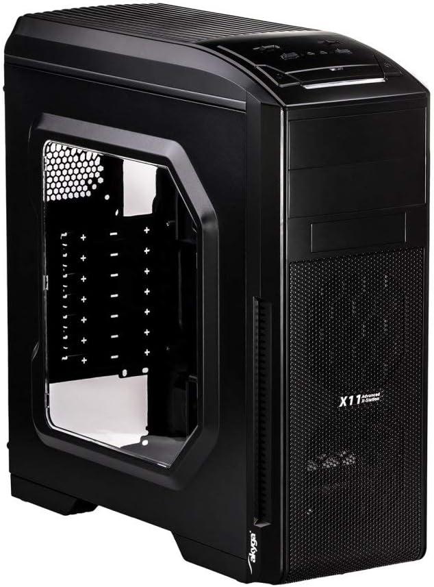 akyga aky0 10BW ATX – Caja de Ordenador, Color Negro: Amazon.es: Informática
