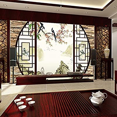 XLi-You 3D Tv Modern Chinese Wallpaper Background Wallpaper Classic Landscape Painting Walls Video Wall