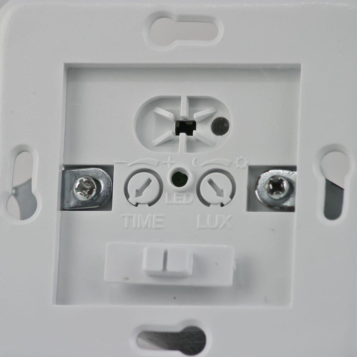ChiliTec rasante Detector de movimiento PIR 160 ° LED Adecuado, tecnología de alambre 3, color blanco: Amazon.es: Electrónica