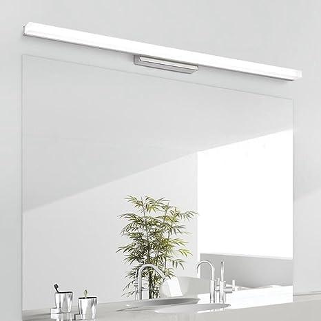 BiuTeFang led espejo luz frontal estanco anti niebla baño espejo de la luz WC lámpara de pared moderno espejo armario luz led luz / 50.5cm 12W: Amazon.es: Iluminación