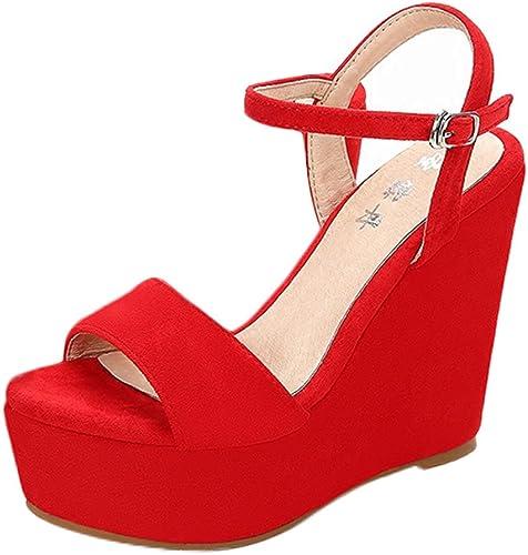 red platform heels uk