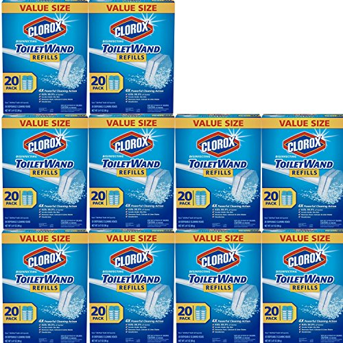 Clorox ToiletWand Disinfecting Refills, 20 Count, Pack of 10 by Clörox