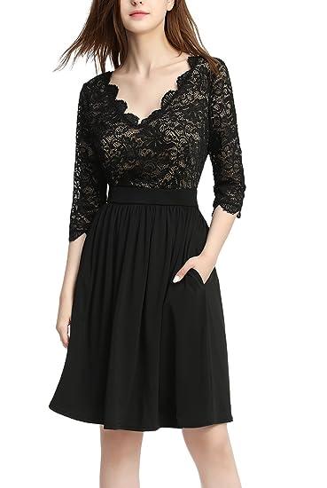 phistic Women s Lace Fit   Flare Dress (Regular   Plus Size) at ... ec91731d9