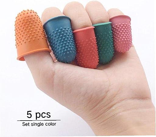 5pcs Gomma Fingers Tip Pad Grip Colore Casuale per Il Conteggio Fascicolazione Scrittura Sorting Task