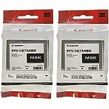 Canon PFI-107MBK Ink Cartridge Matte Black - 2 Packs in Retail Packing