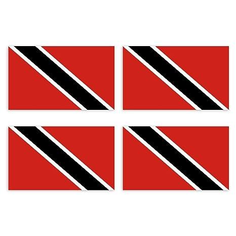 4 x Aufkleber Auto Sticker tuning motorrad Trinidad und Tobago Fahne Flagge