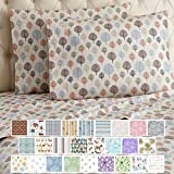 Thermee Micro Flannel Shavel Home Products Sheet Set, King, Happy Forest