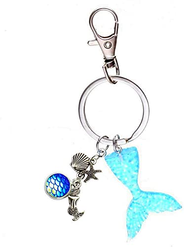 MERMAID KEYRING BAG CHARMS PERSONALISED DAUGHTER GIFT BAG BIRTHDAY XMAS GIFT
