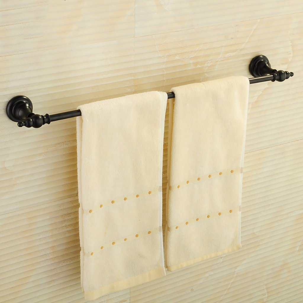 タオルラックウォールマウントウォールマウント銅タオルロッドシングルポールタオルラックのドアの浴室のキッチン B07D8RMJJH