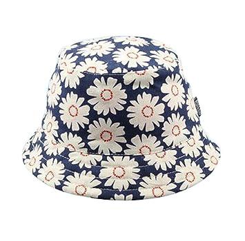 9ea789175fdd4 Hillento Baby Kids Girls Boys Toddler Fisherman Bucket Hat Pattern Wide  Brim Outdoor Cap Sun Hat