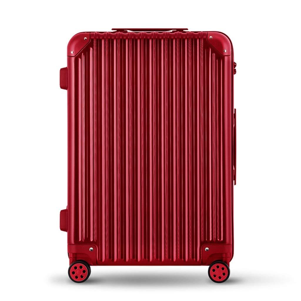 FRF トロリーケース- ビジネス傷抵抗力がある無光沢のスーツケース、人および女性のための普遍的な車輪のトロリー箱20/24インチ (色 : 赤, サイズ さいず : 24in) 24in 赤 B07QWW61XR
