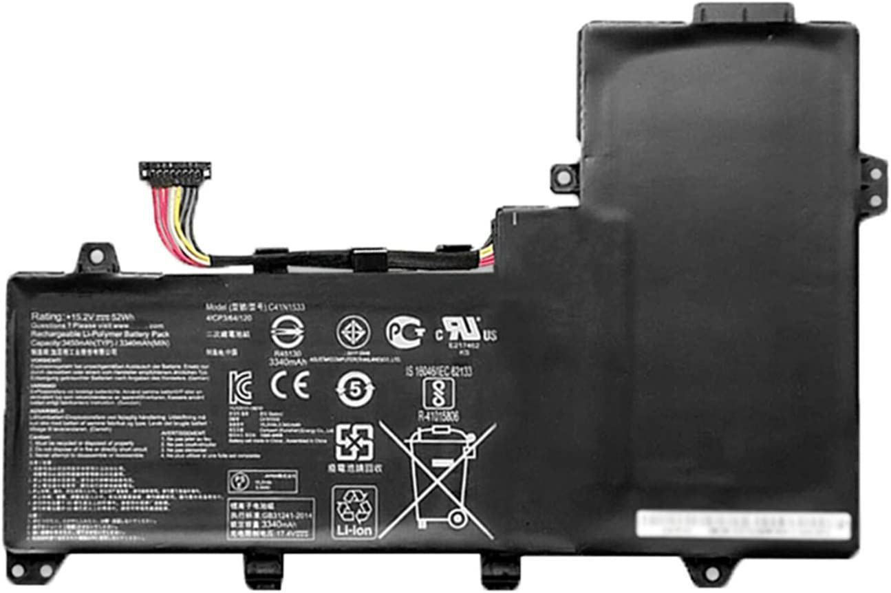 Dentsing 15.2v 52Wh/3450mAh C41N1533 Laptop Battery Compatible with ASUS ZenBook Flip UX560UQ UX560UX-FZ021T Q524U Q534U Q534UX-BHI7T19 Series Notebook 0B200-02010200