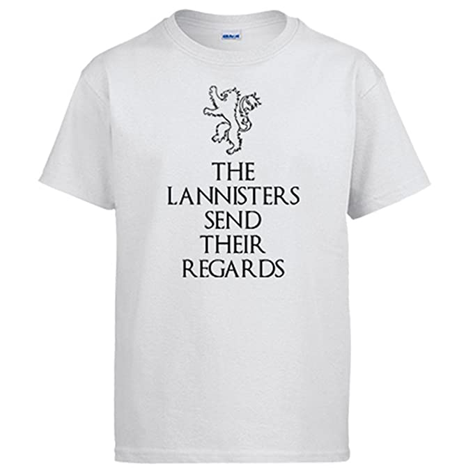 Camiseta Juego de Tronos The Lannisters Send Their Regards frase: Amazon.es: Ropa y accesorios
