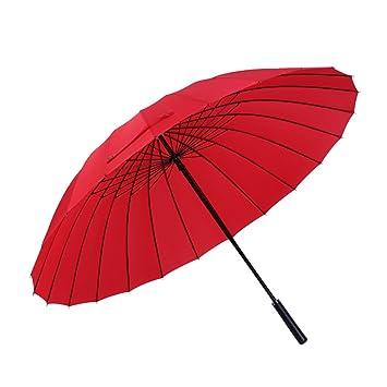 Sabarry Sol Paraguas Grande Stock Pantalla Mujer UV Funda Pantalla automático Rojo Rojo Talla única