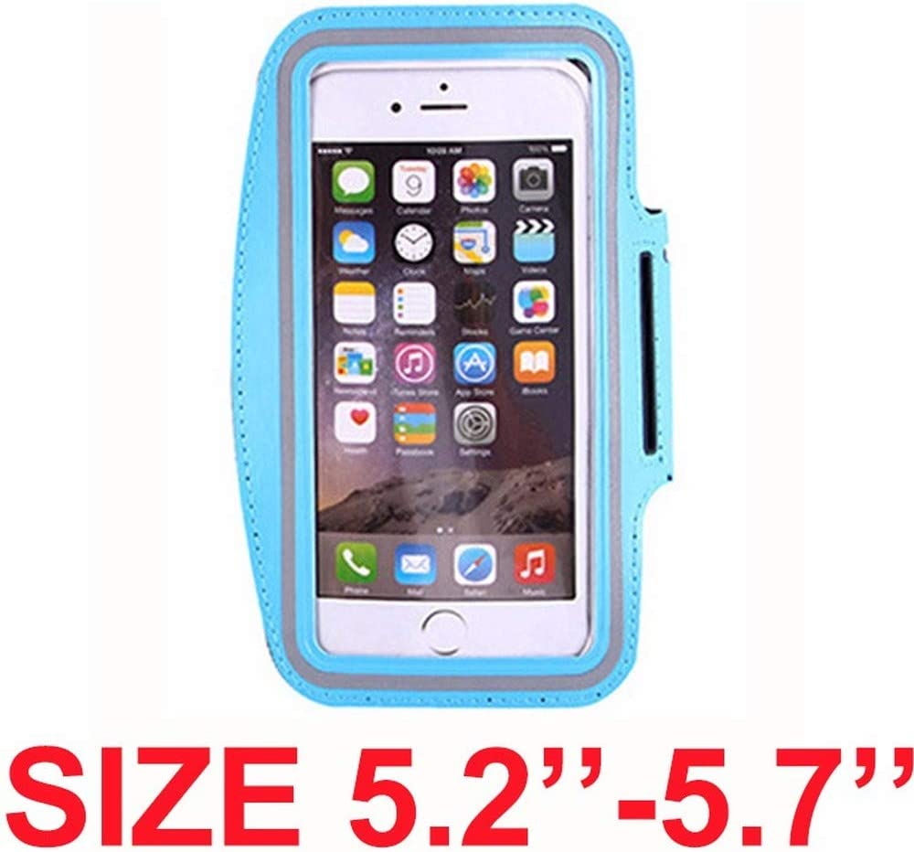 Cell Phone Armband for iPhone 11 11 Pro XR XS X 8 7 6 6s Samsung Galaxy S10//S9//J5//J3 ?Up to 6.1 Inch?Sweatproof Sports Running Armband with Key Holder /& Extension Strap black Suitable for Exercise Size 3.5--4