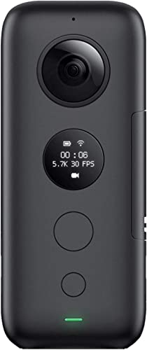 Insta360 ONE X 360 Degree Dual Lens 5.7K 18MP Stabilization Panoramic Sports Video Real Time WiFi Transfer SD Card Sold Independently, V30 MicroSDXC IS Required
