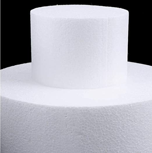 1PC-Kuchen-Form 4DIY Runde Styropor Hochzeit Geburtstag Partei-Dekor K/üche Zubeh?r Backen-Werkzeuge Moulds Dekoration accessoriy