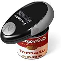 Electric Can Opener, 2AA Batteries Operated Smooth Soft Edge with One-Touch Start Automatic Can Opener for Arthritis Individuals, Seniors