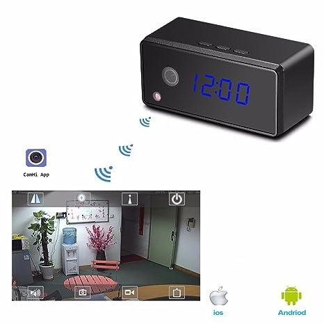 Takestop® Spy Cam Reloj Espía Full HD 1080p wifi Smartphone Visón nocturna Videocámara oculta cámara