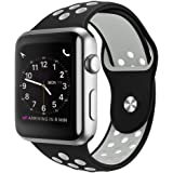 MouKou Strap for Apple Watch 44mm 42mm 40mm 38mm Soft Silicone Sport Replacement Straps for Apple iWatch Series 4 Series 3 Series 2 Series 1 S/M M/L