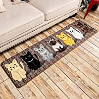 SimpleLife4U Fashion Cats Non-Slip Machine Washable Kitchen Rug Home Decor Bedroom Floor Comfort Mat 15x59 Inch