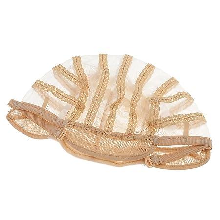 Amazon.com: MagiDeal 1pcs Lace Mesh Wig Cap for Wig Making Elastic Invisible Weave Hair Net Cap Black/ Brown/ Beige - Beige, as described: Beauty