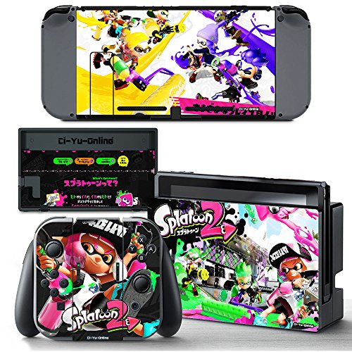 Ci Yu Online Vinyl Skin  Ns  Splatoon 2 Sticker Decal Cover For Nintendo Switch Console And Joy Con Controllers