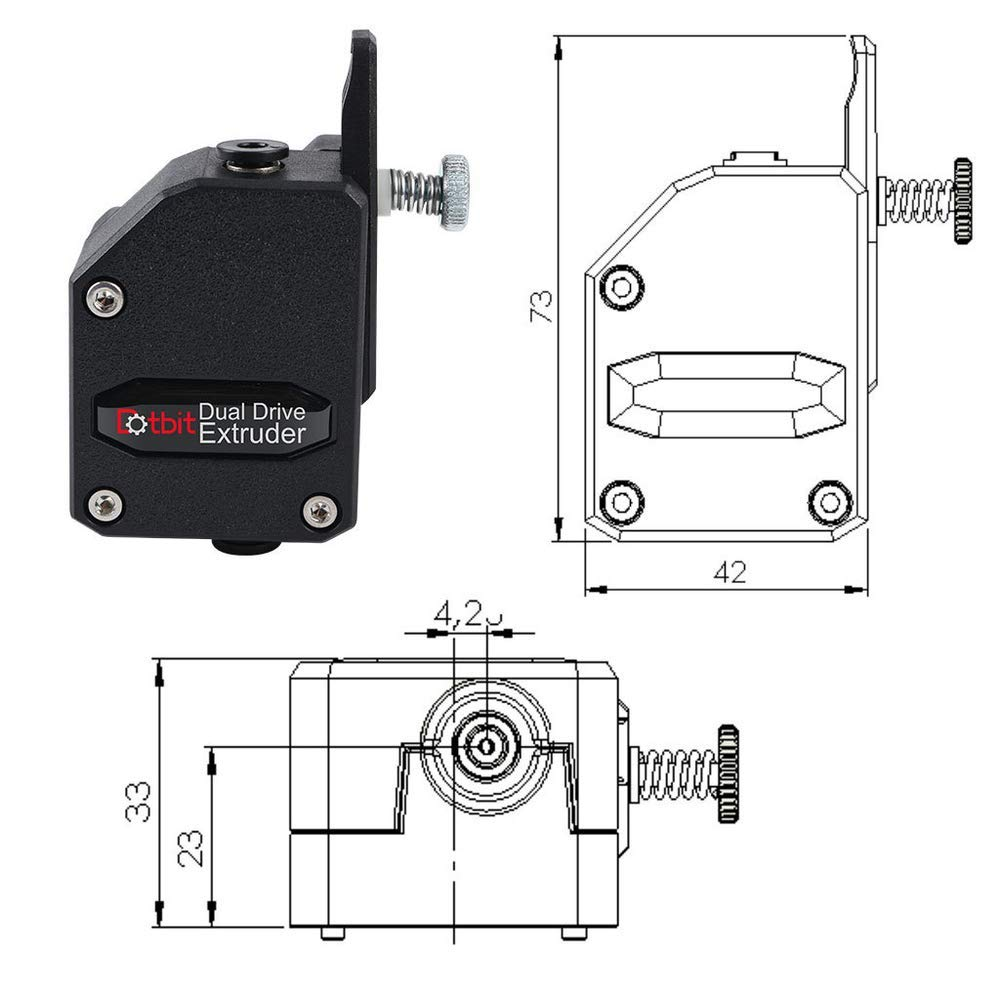 Bondtech BMG deceleration extruder clone Dotbit 3D printing soft consumables dual gear extruder