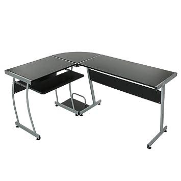 Modrine Schreibtisch L Form Ecke Computertisch In Büro Und Zu Hause  Computer PC Schreibtisch Tisch 3 Teilige Ecke