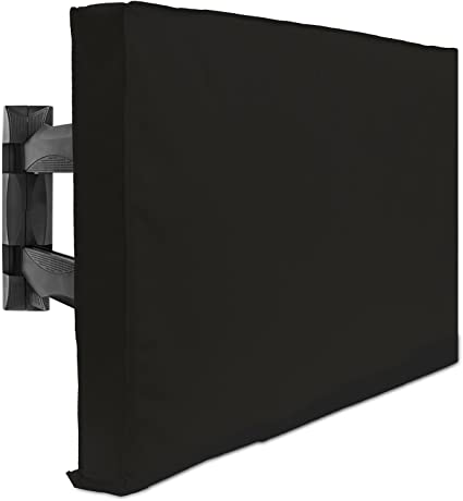 Anti-UV//Waterproof//Weatherproof and Dust-proof Heavy Duty Material Flat Screen TV Case Protector Fits Up to 55W x 35h inches Outdoor TV Cover 55 inch Outside TV Cover with Bottom Seal