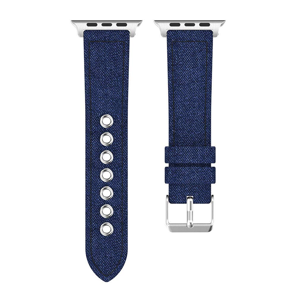 Lovewe iWatch 4 Watch Band,New Fashion Denim Fabric Watch Bracelet Band Strap For Apple Watch Series 4 40MM/44MM (Blue, 40MM)