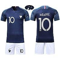 XMeng aillots de Football Hommes Enfants France Football 2018 Coupe du Monde France 2 Étoiles Vêtements de Football Champion pour Garçon Filles