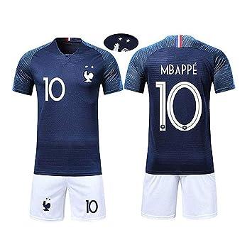 XMeng aillots de Football Hommes Enfants France Football 2018 Coupe du  Monde France 2 Étoiles Vêtements bd82feb78dd4