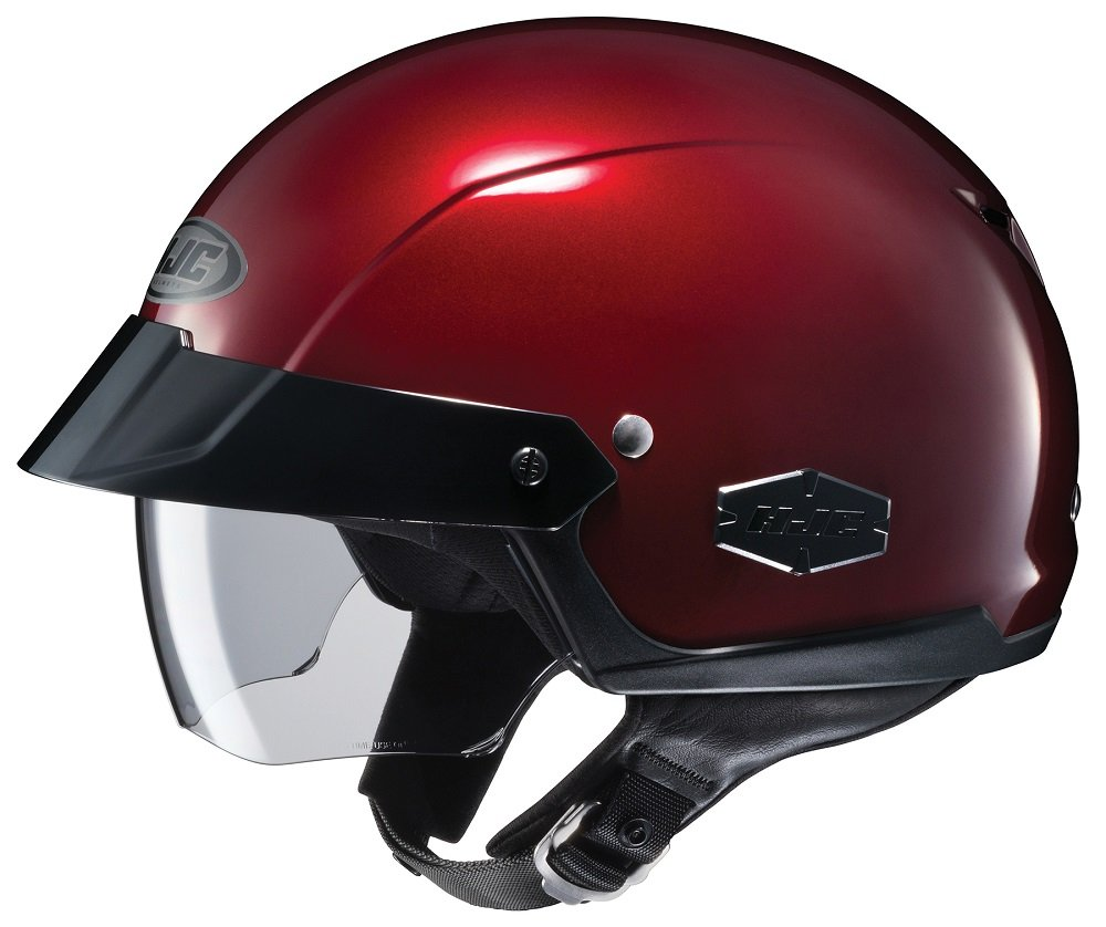 HJC IS-Cruiser Half-Shell Motorcycle Riding Helmet (Wine, Medium)