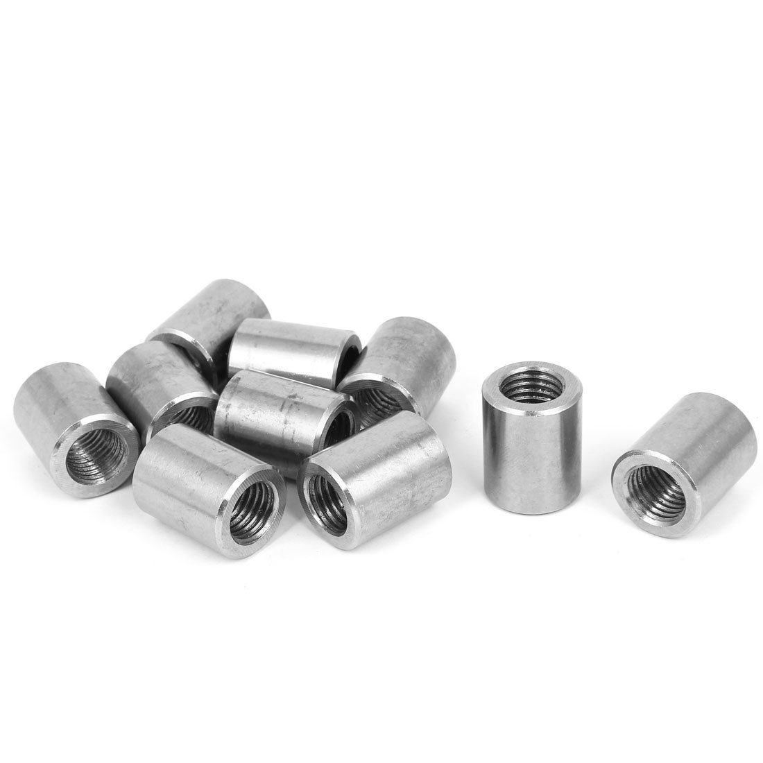 uxcell M16x2mm Threaded Insert Tube Rose Joint Adapter Round Connector Nuts 10 Pcs