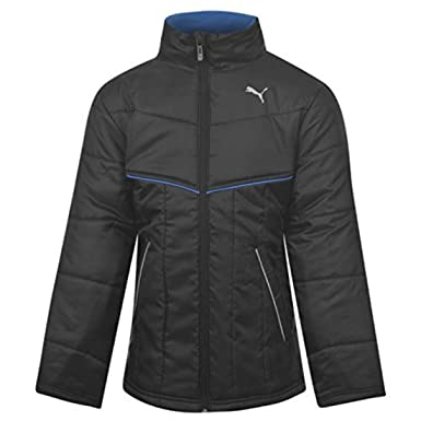 f14aee4d Puma Kids Padded Jacket Junior Boys Warm Winter Jacket Zip Fastening Black  7-8 (SB): Amazon.co.uk: Clothing
