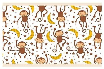 dekodino Kinderzimmer Bordüre Borte Affen Afrika Tiere ...