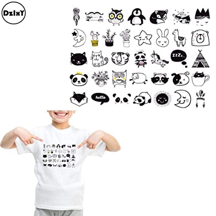 Music Memorabilia Cartoon Panda Patch Washable Iron On Transfers Patches T-shirt Press Sticker For Kids Dress Bag Backpack